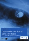 Opportunities And Risks Of Nanotechnologies