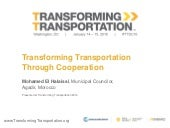 Transforming Transportation Through Cooperation - Transforming Transportation 2016