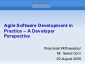 Agile Software Development in Practice - A Developer Perspective