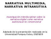 Narrativa multimedia, narrativa int...