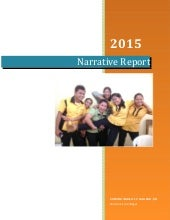 What can you say about narrative report?