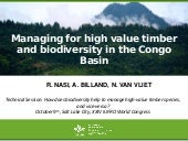 Managing for high value timber and biodiversity in the Congo Basin