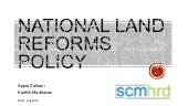 National Land Reforms Policy [Draft...