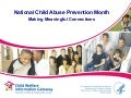 National Child Abuse Prevention Month: Making Meaningful Connections
