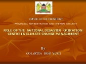 National disaster operation, kenya ...