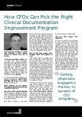 How CFOs Can Pick the Right Clinical Documentation Improvement Program - Anthony Oliva, JA Thomas