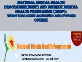 National mental health programme (n...