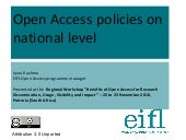 """Open Access policies on national l..."