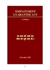 National rural employment guarantee...
