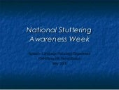National stuttering awareness week