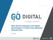 Why All the Infatuation with Native Advertising? 5 Truths Every Marketer Should Know