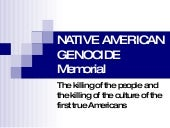 Native American Genocide Memorial