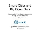Smart Cities and Big Open Data