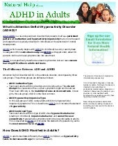 Natural Help For Adhd In Adults Sig...