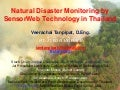 Natural disaster monitoring by sensor web technology in thailand v2