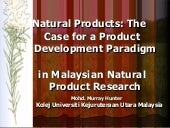 Natural Products: The Case for a Pr...