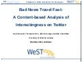 Bad News Travel Fast: A Content-based Analysis of Interestingness on Twitter