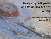 Navigating Wikipedia and Wikipedia Articles Wisely