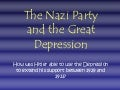 Nazi Party and the Depression