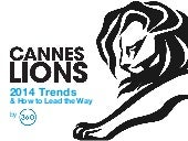 Cannes lions awards 2014 trends and implications