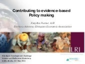 Contributing to evidence-based poli...
