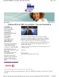NBMBAA Toronto Chapter May 2009 Newsletter