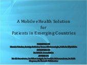 A Mobile eHealth Solution for Emerg...