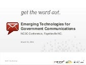 Emerging Technologies for Governmen...