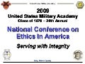 USMA 1970 National Conference on Ethics in America