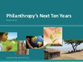 Philanthropy's Next Ten Years