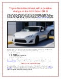 N Charlotte drivers teased with possible change on the 2013 Scion FR-S!