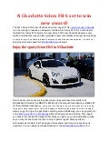 N Charlotte Scion FR-S set to win new award