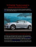 N Charlotte Toyota is proud to present the 2013 Scion tC!