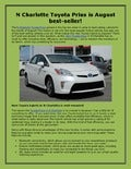 N Charlotte Toyota Prius is August best-seller!