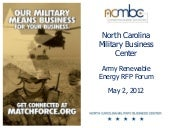 NCMBC Army Renewable Energy Contrac...