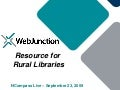 NCompass Live: WebJunction: Resource for Rural Libraries