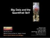 Big Data and the Quantified Self