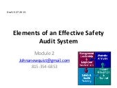 Elements of an Effective Safety Audit