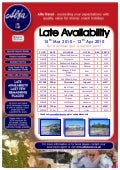 Late Availability from North East Region - 15/03/10 - 12/04/10