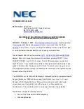 Nec display solutions expands accusync series with 24 inch lcd desktop monitor