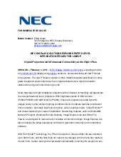 Nec display solutions expands entry...