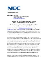 Nec display solutions introduces pa...