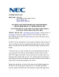 NEC DISPLAY SOLUTIONS INTRODUCES TOUCH-INTEGRATED LARGE-SCREEN DISPLAY TO V SERIES PRODUCT LINE