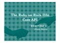The ruby on rails i18n core api-Neeraj Kumar