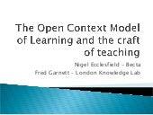 Open Context Model of Learning & Cr...