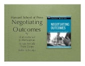 Negotiating outcomes presentation pp
