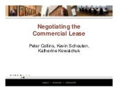 Negotiating The Commercial Lease(Sl...