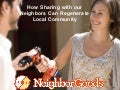 How can sharing with your neighbors better prepare you for a natural disaster?