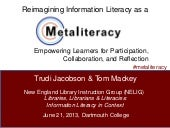 Metaliteracy Presentation at Dartmo...