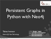 Persistent graphs in Python with Neo4j